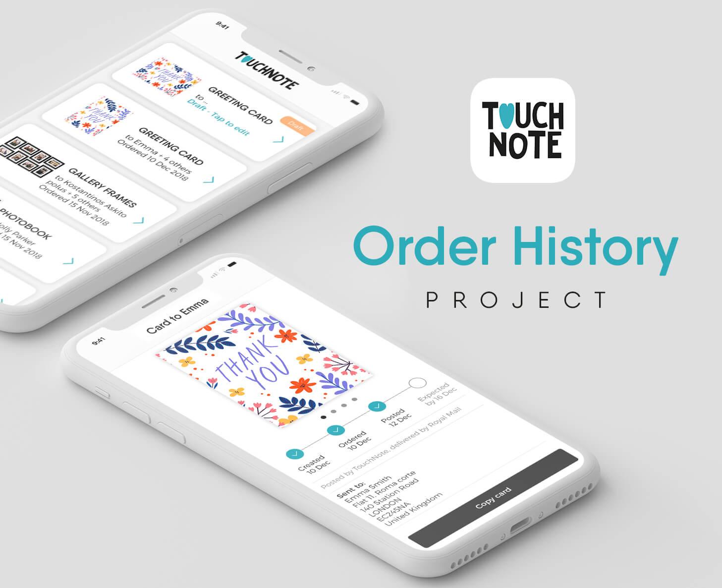Order History Header